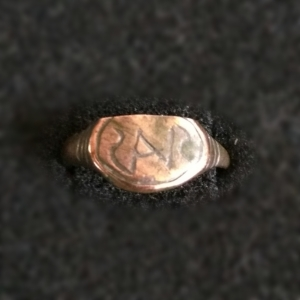 ancient runes on a ring