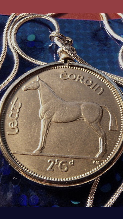 Irish Horse Pendant Necklace