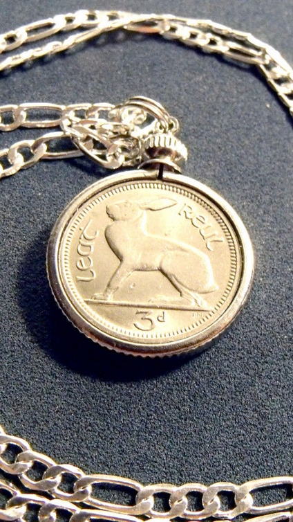 lucky Irish bunny rabbit necklace