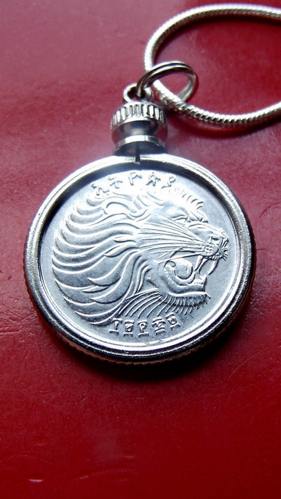 Leo Lion Coin Pendant Necklace