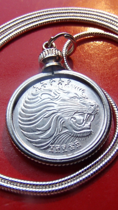 Lion Necklace Coin Pendant