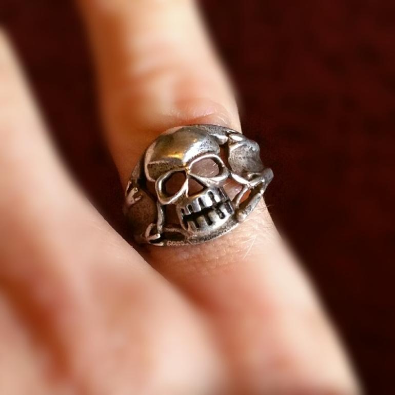 Antique French Skull Ring