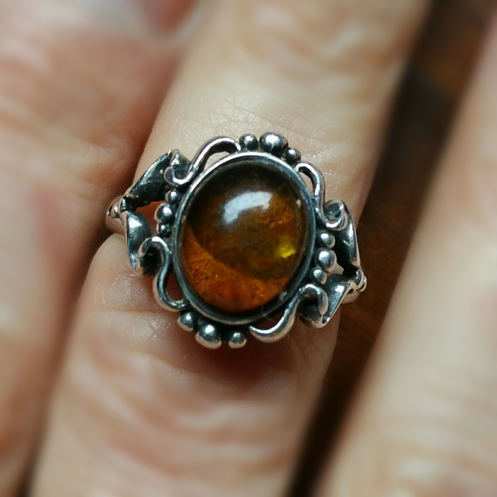 Vintage Amber Avon Ring