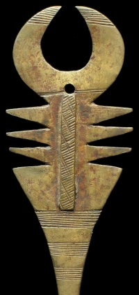 Ancient African brass hair pin.