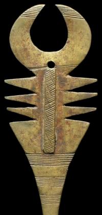 Ancient African brass hair pin.