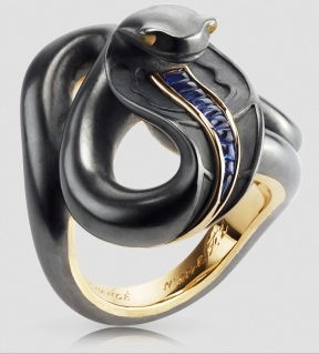 Frédéric Zaavy's Black Sea Serpent Ring, from Fabergé.