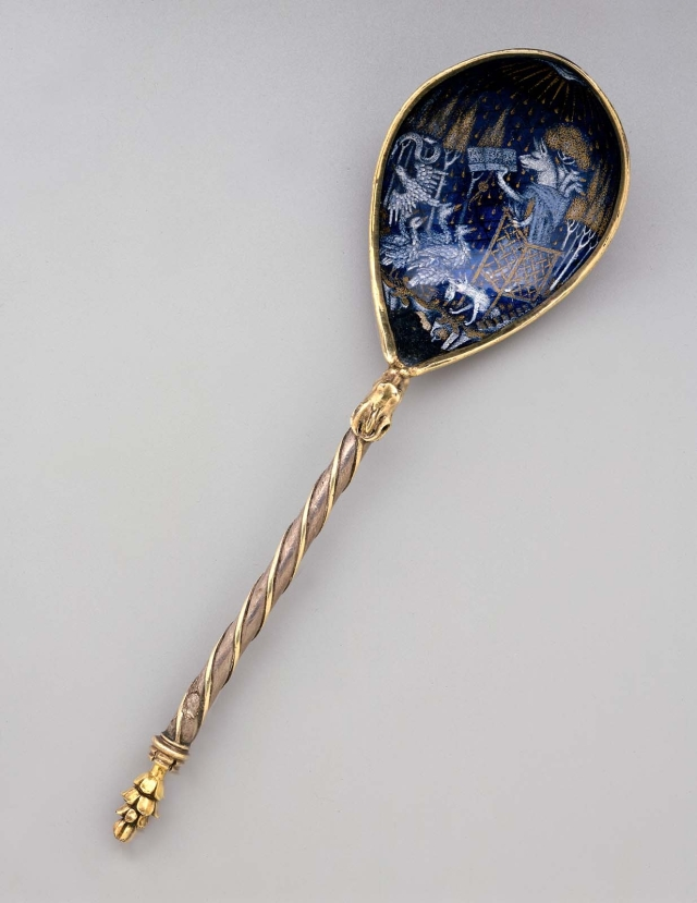 Philip the Good's Creepy Medieval Spoon from the Museum of Fine Arts in Boston, Mass. USA.