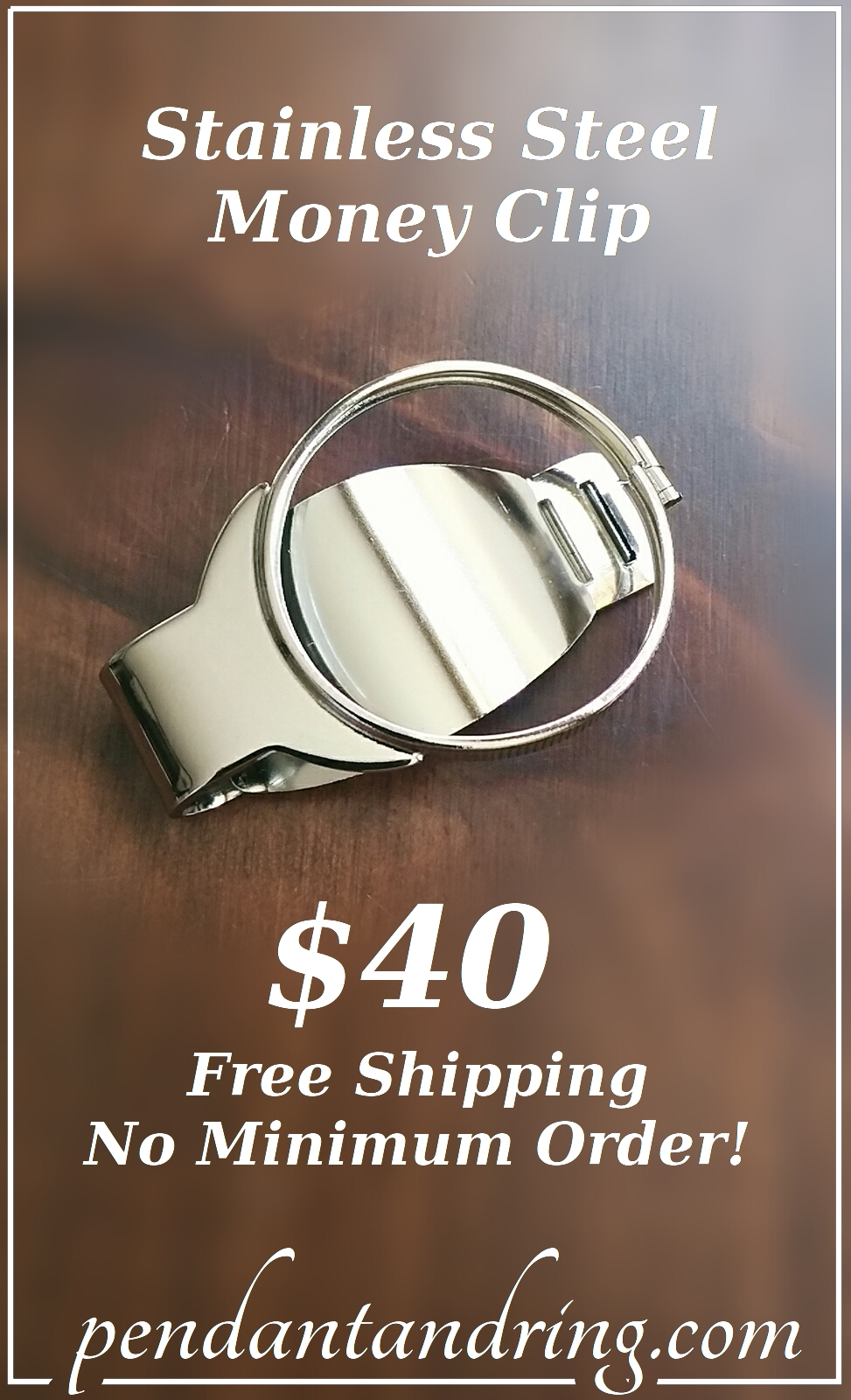 money clip stainless steel vintage