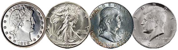 barber walking liberty walker benjamin franklin jfk kennedy silver half dollar