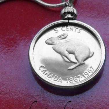 canadian rabbit coin pendant 2