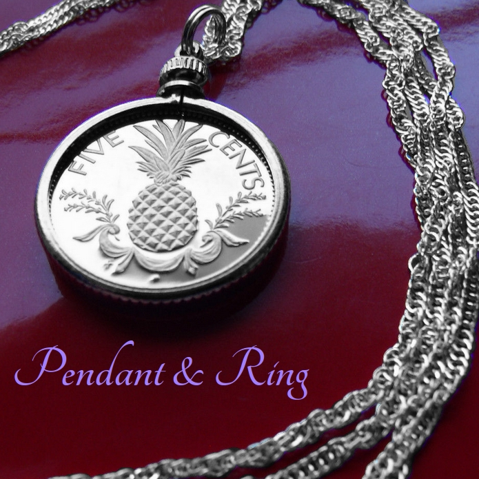 Pineapple Coin Pendant Necklace