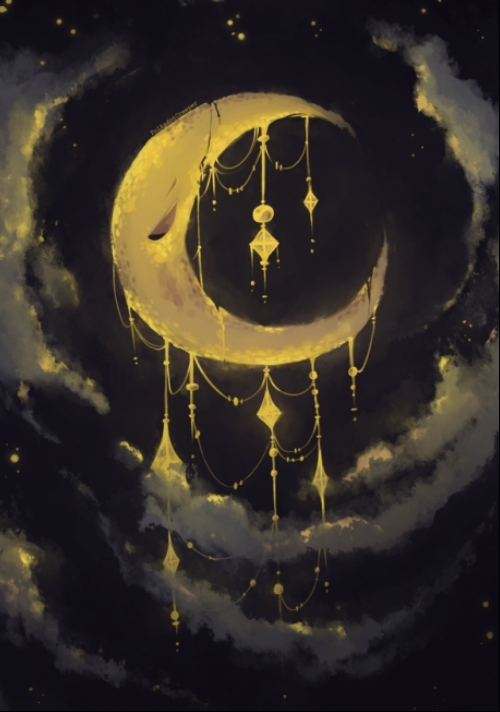 The Bejeweled Crescent Moon