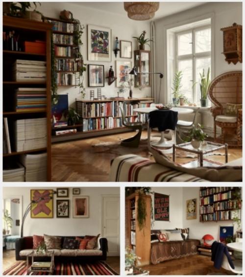A Bohemian Decorated, Scandinavian Apartment
