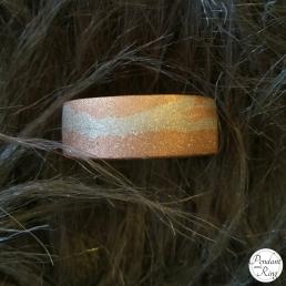 Hand Spun Pink Silver Ring