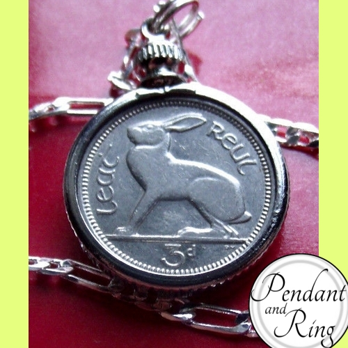 rabbit bunny coin pendant