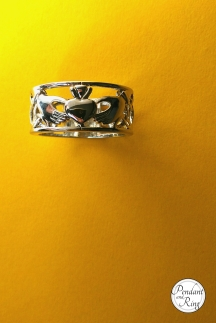 stainless steel claddagh ring 3