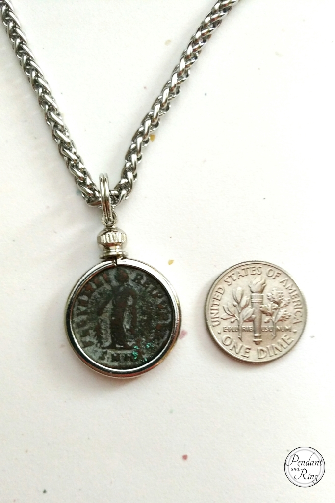 roman coin pendant necklace