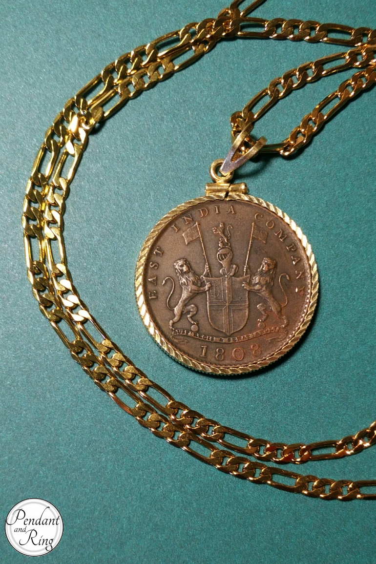 Coin Pendant East India Shipwreck