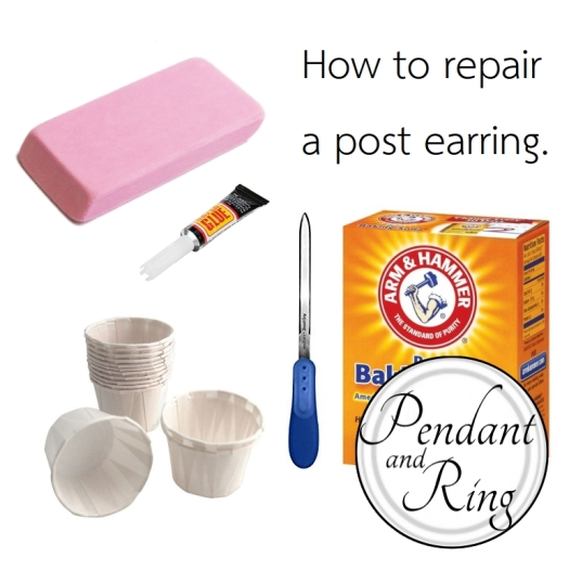 how to fix a broken earring at work