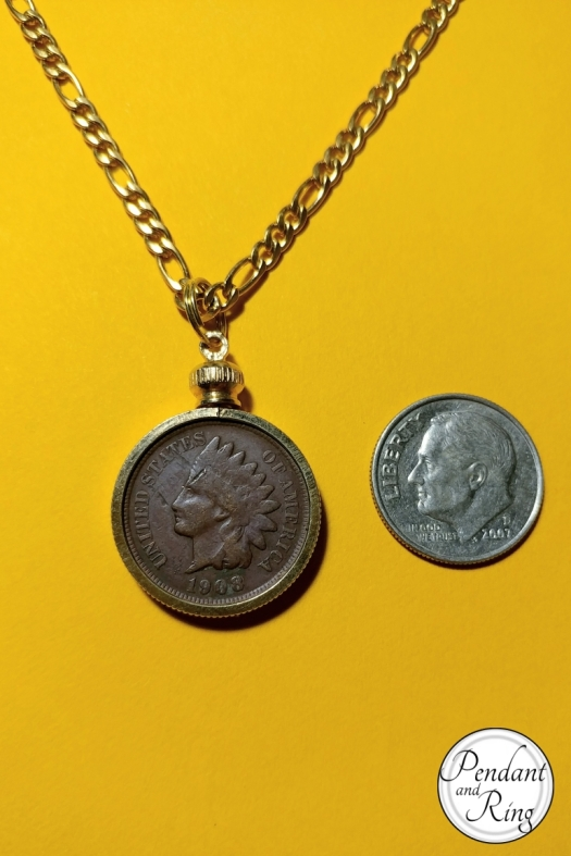 Indian head Chief penny cent pendant 1
