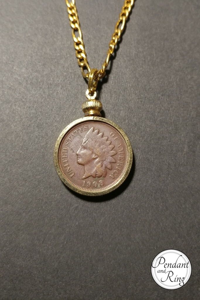Indian head coin pendant necklace