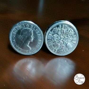 silver six pence cuff links featured image