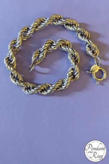 italian silver rope bracelet g mint mark 4