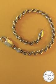 italian silver rope bracelet vintage milor 3