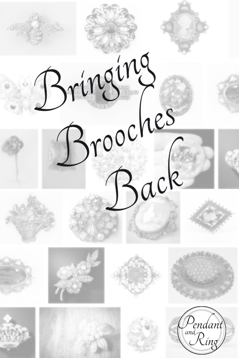 Bringing brooches back pin