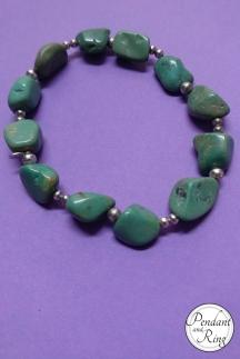 Tumbled Green Turquoise Bracelet 2