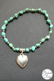 turquoise and heart bracelet 4