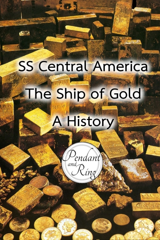 Gold treasure from the SS Central America shipwreck.