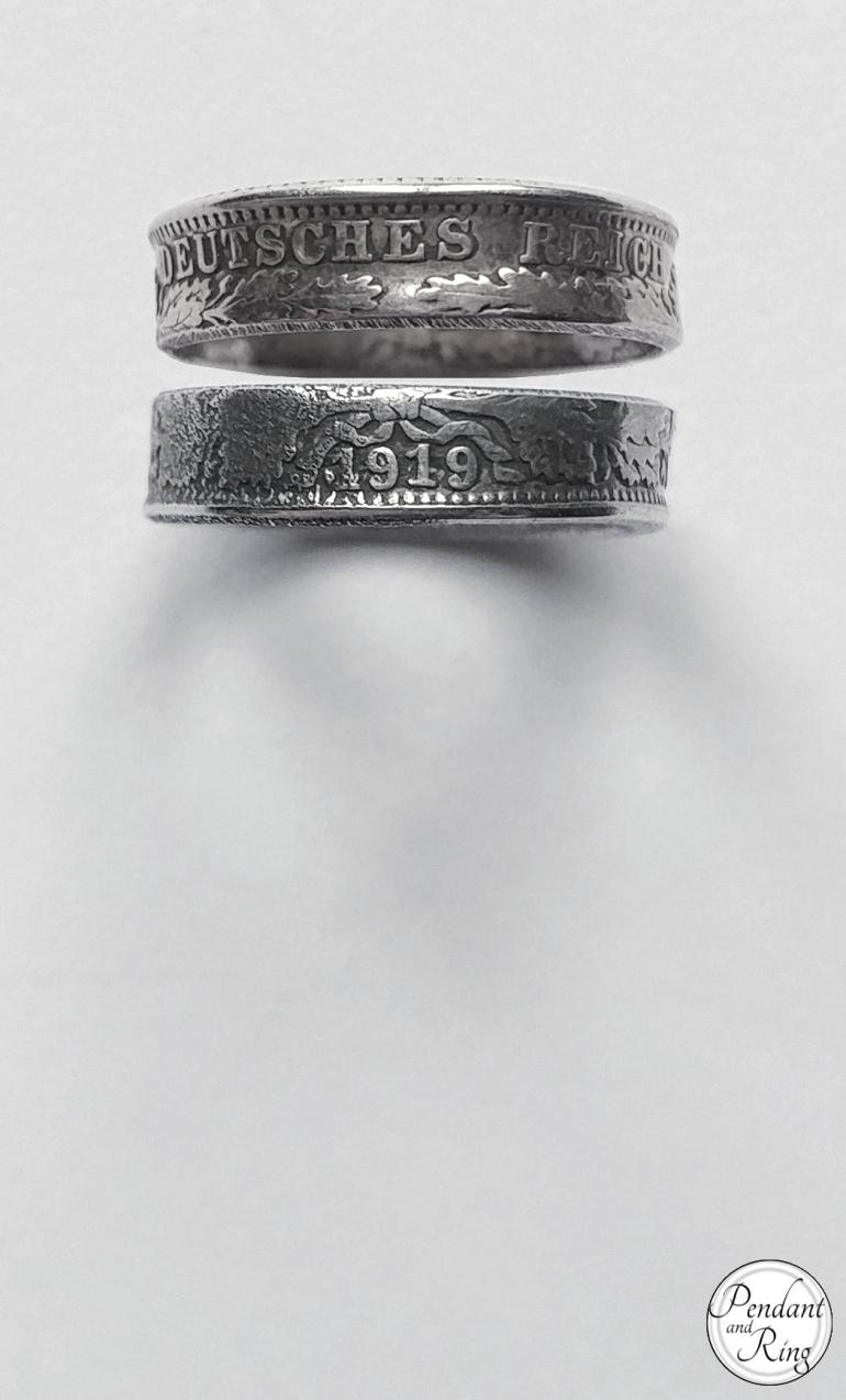 coin ring german 1/2 mark