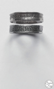 coin ring german 1/2 mark