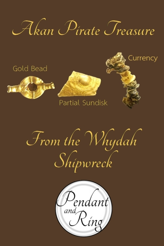 Gold Akan jewelry from the pirate ship Whydah.