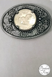Moon LandiEisenhower Coin Belt Buckle