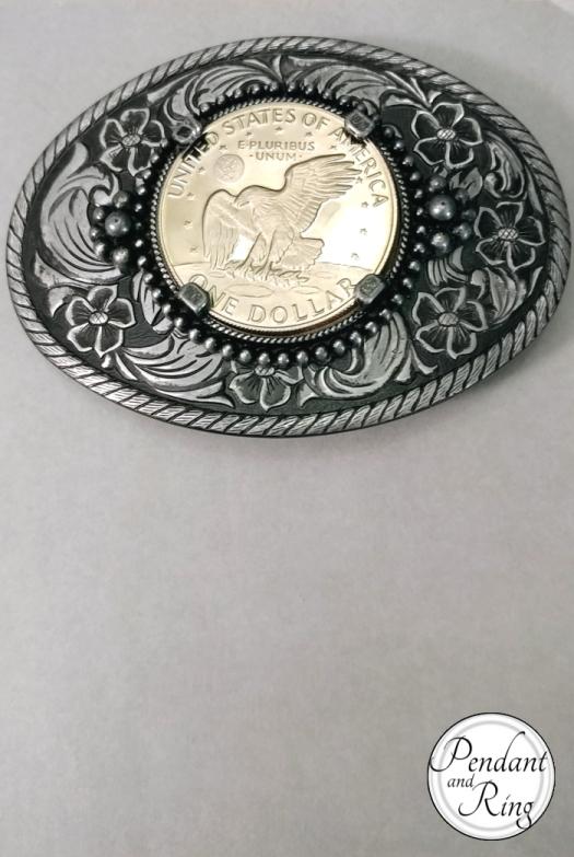 Moon LandiEisenhower Coin Belt Buckle