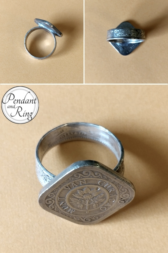 Coin Ring Netherlands Switzerland Silver Ring