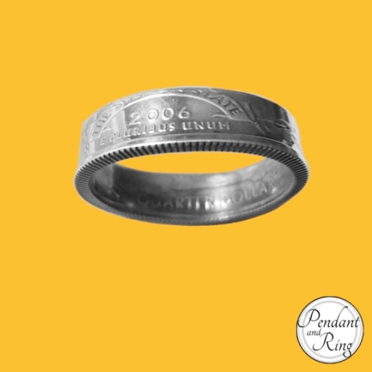 mens jewelry quarter coin ring