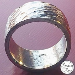 mens jewelry silver hammered ring