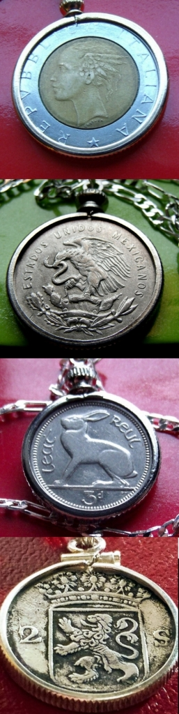 popular jewelry coin pendants