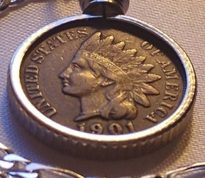 1901 American Indian penny necklace