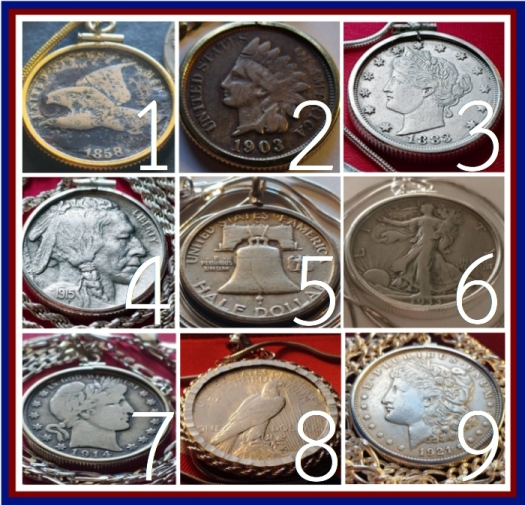 American-coin-pendants