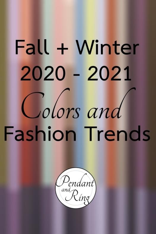 Color Trends Fashion fall winter 2020 2021