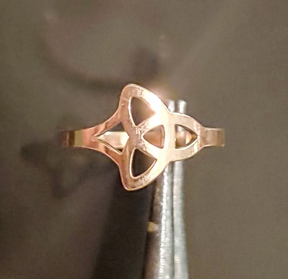 Celtic Rose Gold Triquetra Ring