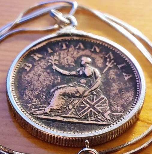 1806 English Britannia Coin Pendant