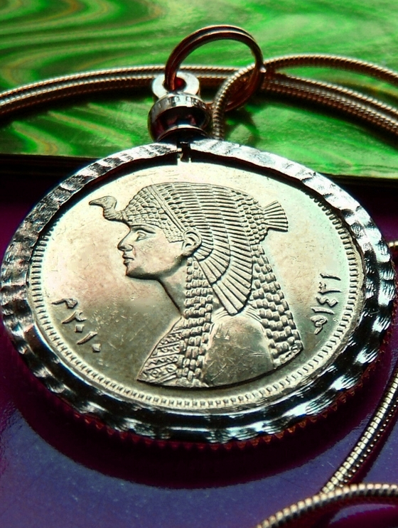 Cleopatra Coin Pendant Necklace