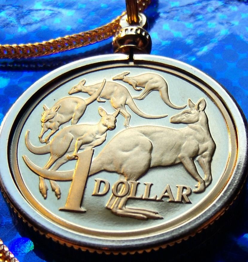 Australian Coin Pendant Necklace