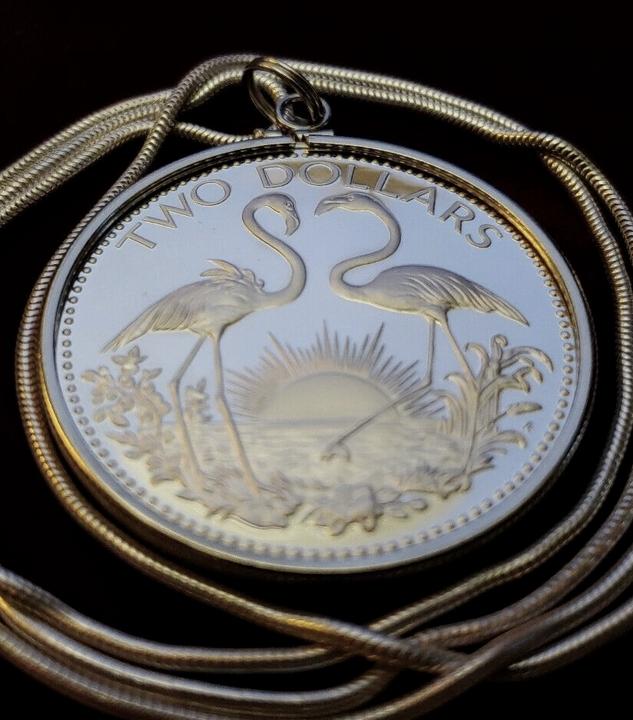 Bahamas Coin Pendant Necklace