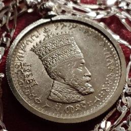 Haile Selassie Coin Pendant